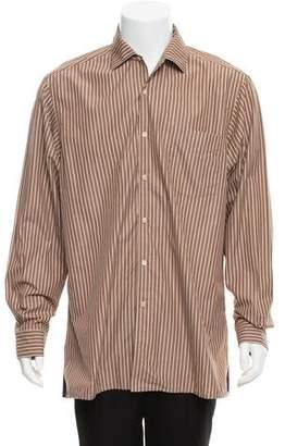 Ralph Lauren Purple Label Striped Button-Up Dress Shirt