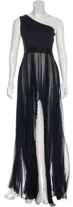 Alexis Pleated One-Shoulder Maxi Dress