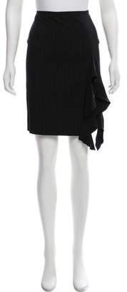 Jean Paul Gaultier Ruffle-Accented Knee-Length Skirt