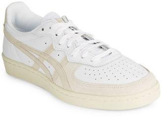 Asics D6H1L Unisex Leather Lace-Up Sneakers $85 thestylecure.com