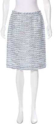 Tahari Tweed Knee-Length Skirt