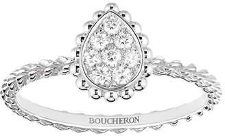 Boucheron White Gold Diamond Serpent Bohème Ring