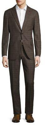 ISAIA Raised Boucle Plaid Wool Suit $3,595 thestylecure.com