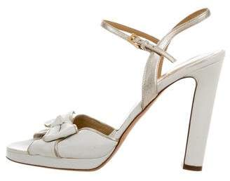 Valentino Bow Ankle Strap Sandals