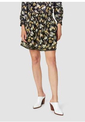 Derek Lam 10 Crosby Tiered Bouquet Floral Print Silk-Blend Jacquard Cami/Skirt