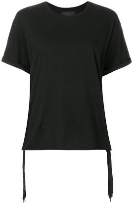 KENDALL + KYLIE Kendall+Kylie ruchéd side tie T-shirt