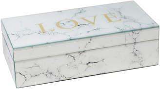 Sagebrook Home Love Marble Print Storage Box