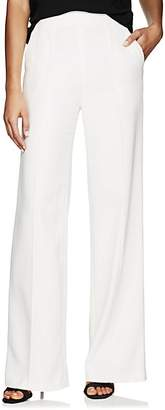 Lisa Perry Women's Crepe Wide-Leg Trousers - White