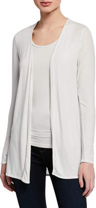 Neiman Marcus Majestic Paris for Metallic Open-Front Long-Sleeve Cardigan