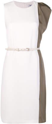 Max Mara contrast flared dress