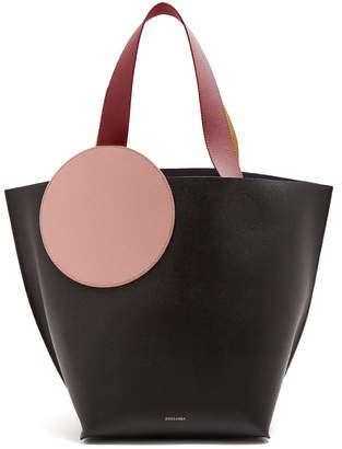 Roksanda Elder pebbled-leather tote