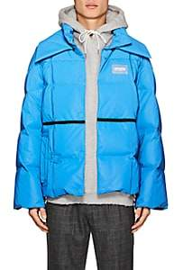 Off-White MEN'S DOWN TECH-TAFFETA PUFFER JACKET-BLUE SIZE S