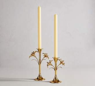 Pottery Barn Monique Lhuillier Lara Floral Taper Candlesticks