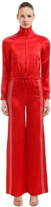 Valentino Textured Satin Jumpsuit