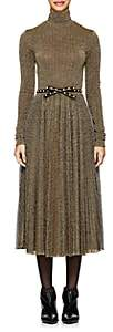 Philosophy di Lorenzo Serafini Women's Pleated Lamé Midi-Dress - Gold