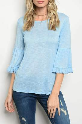 Sweet Claire Sky Blue Top