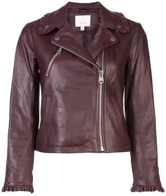 Cinq à Sept cropped biker jacket
