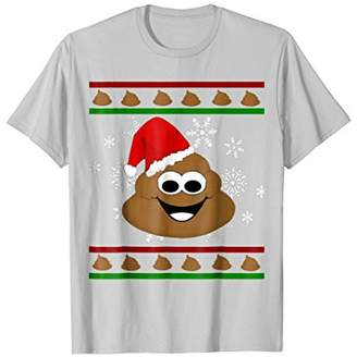 Cool Christmas Poop Santa Hat Funny Ugly T-shirt Awesome Gif