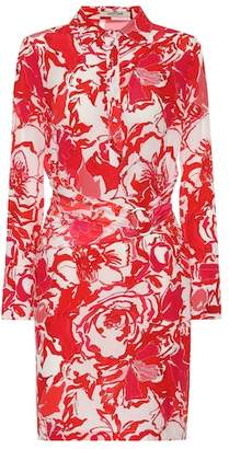 Roberto Cavalli Floral-printed silk minidress