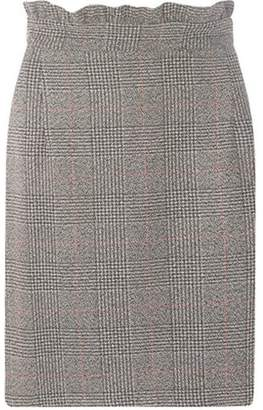 Dorothy Perkins Womens **Tall Grey and Black Checked Frill Mini Skirt