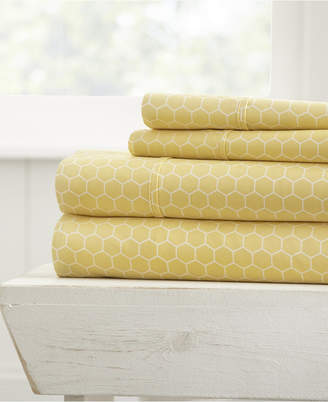 The Farmhouse Chic Premium Ultra Soft Pattern 4 Piece Sheet Set by Home Collection - Cal King Bedding