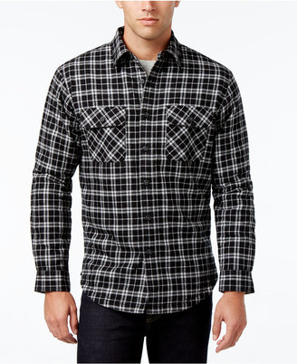 Club Room Men's Big and Tall Plaid Shirt Jacket, Only at Macy's $87 thestylecure.com
