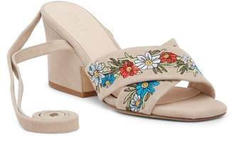 Raye Flora Embroidered Heeled Sandal