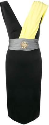 Fausto Puglisi sash sun fitted dress
