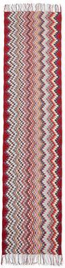 Missoni Zigzag Knit Scarf, Red/Black/Gold