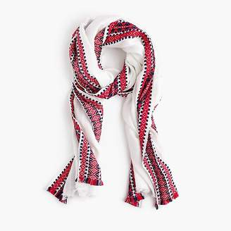 J.Crew Embroidered woven scarf