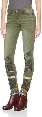 Desigual Women's Harry Woman Non Denim Long Trouser, burnt Olive, L