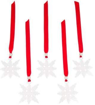 Christofle Set of 5 Silverplate Christmas Tree Ornaments