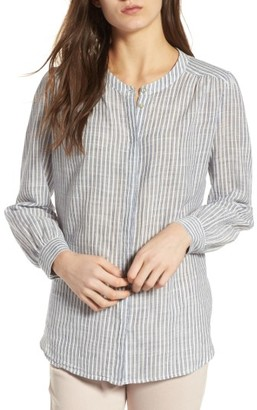 Women's Ag The Simone Ticking Stripe Top $168 thestylecure.com