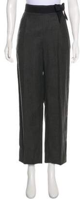 Valentino High-Rise Pants Grey High-Rise Pants