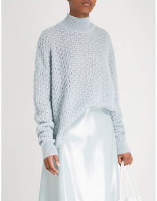 Jil Sander Open-knit mohair and silk-blend turtleneck jumper