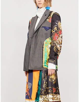 Toga Baroque-panel wool jacket