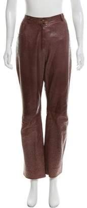 Christian Dior Ostrich Straight-Leg Pants