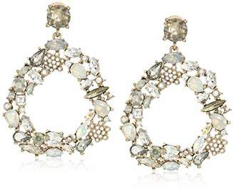 Badgley Mischka Mini Pearl and Stone Encrusted Drop Earrings
