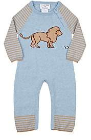 Lucky Jade Infants' Lion & Mouse Cotton-Cashmere Coverall-Blue