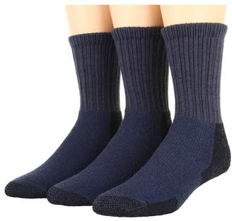 Thorlos Thick Cushion Hiking Wool Blend 3-Pack Crew Cut Socks Shoes
