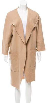 Burberry Draped Wool Coat