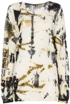 Ann Demeulemeester printed slouchy silk cashmere blend jumper