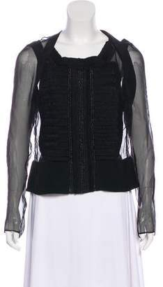 Maiyet Embellished Sheer Top w/ Tags