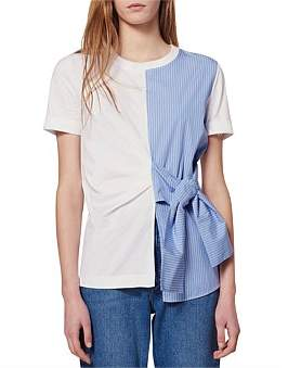 Sandro Paris Norman Knitted T Shirt