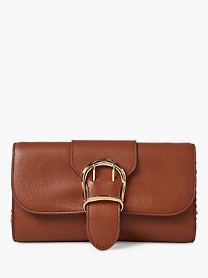 e235832f1 Ralph Lauren Ralph Medium Chain Strap Leather Clutch Bag, Tan