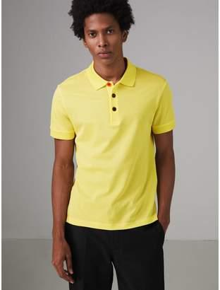 Burberry Painted Button Cotton Piqué Polo Shirt