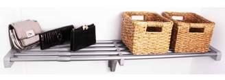 "EZ Shelf 40""-73"" Expandable Shelf, Silver, No Brackets, For Mounting Between 2 Sidewalls"