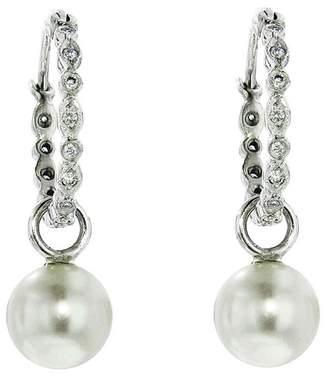 Cathy Waterman Pearl Seed Hoop Earrings - Platinum