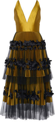 Viktor & Rolf Tiered Graphic Flower Cocktail Gown