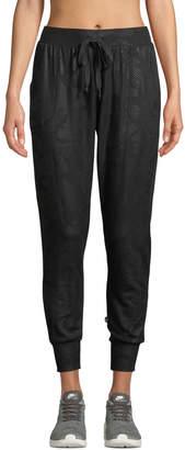Terez Foil-Printed Camo Jogger Pants